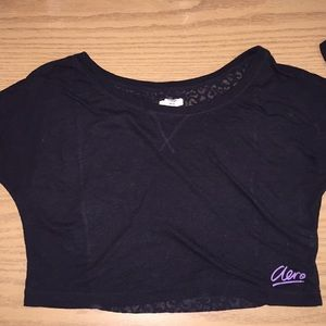 Black dancers crop top